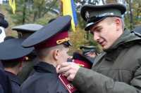 Старші кадети одягли вихованцями ліцею нові погони