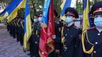 З  Днем захисників України! Урочисте шикування