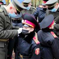Ліцеїстам підшефного СЗРУ ліцею «Кадетський корпус» вручили погони